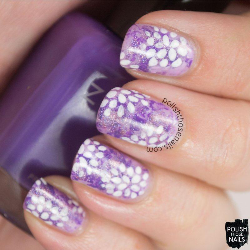 nails, nail art, nail polish, purple, floral, flowers, polish those nails, pattern