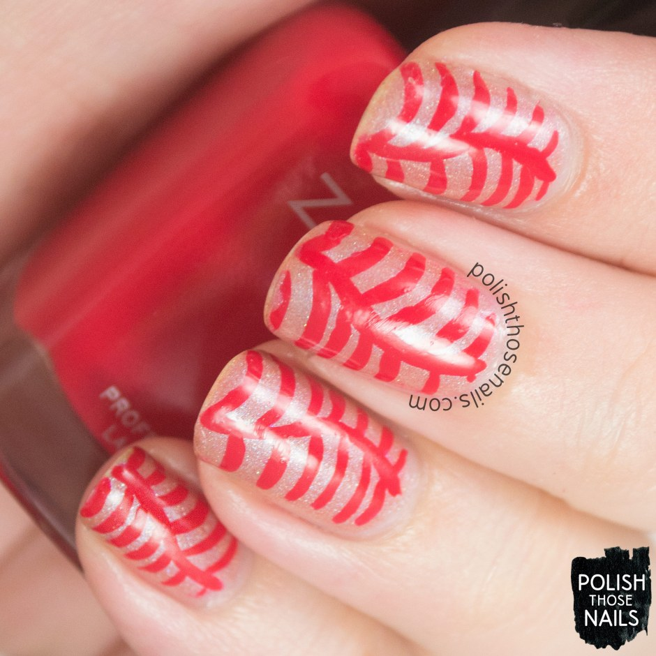 nails, nail art, nail polish, polish those nails, red, 31 day challenge, stripes
