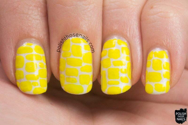 nails, nail art, nail polish, polish those nails, pattern, yellow, 31 day challenge