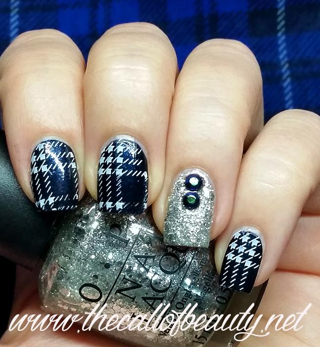 Guest Post - Tartan Manicure with glitter accent  (18) wm