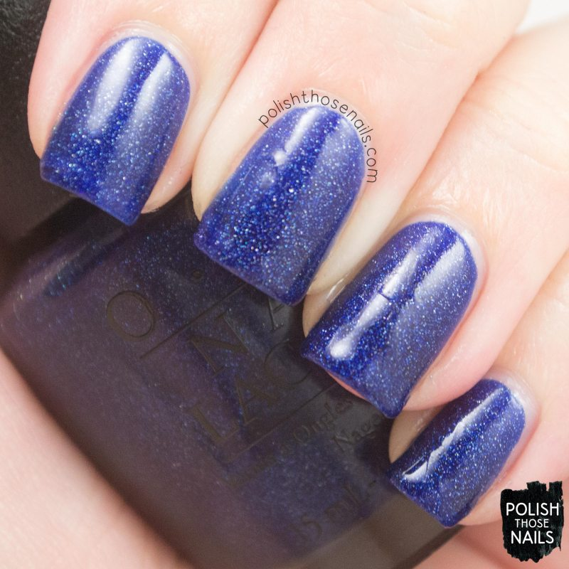 give me space, topi give me space, blue, holo, nail polish, opi, nails, polish those nails, starlight collection, swatch