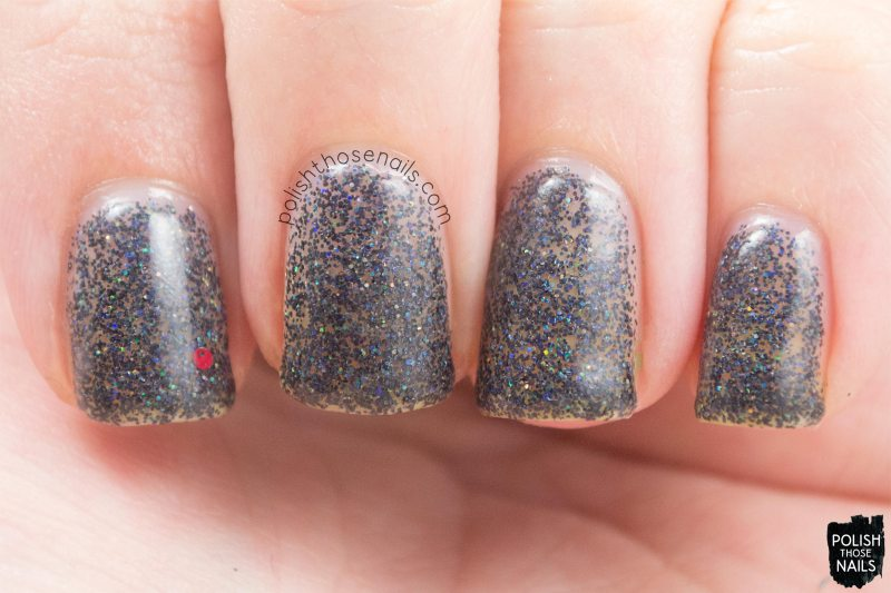 black, glitter, kristi, nails, nail polish, indie polish, daily hues nail lacquer, polish those nails