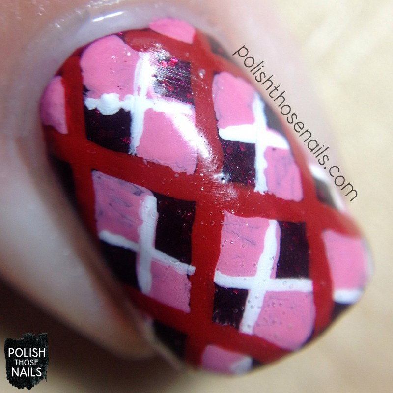 nails, nail art, nail polish, polish those nails, hearts, pattern, red nails, macro