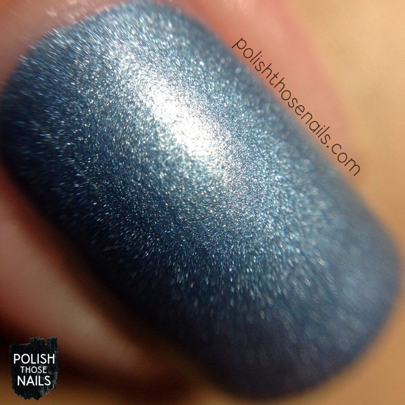 nails, nail polish, sinful colors, swatch, polish those nails, blue sensation, blue, metallic, silver, macro