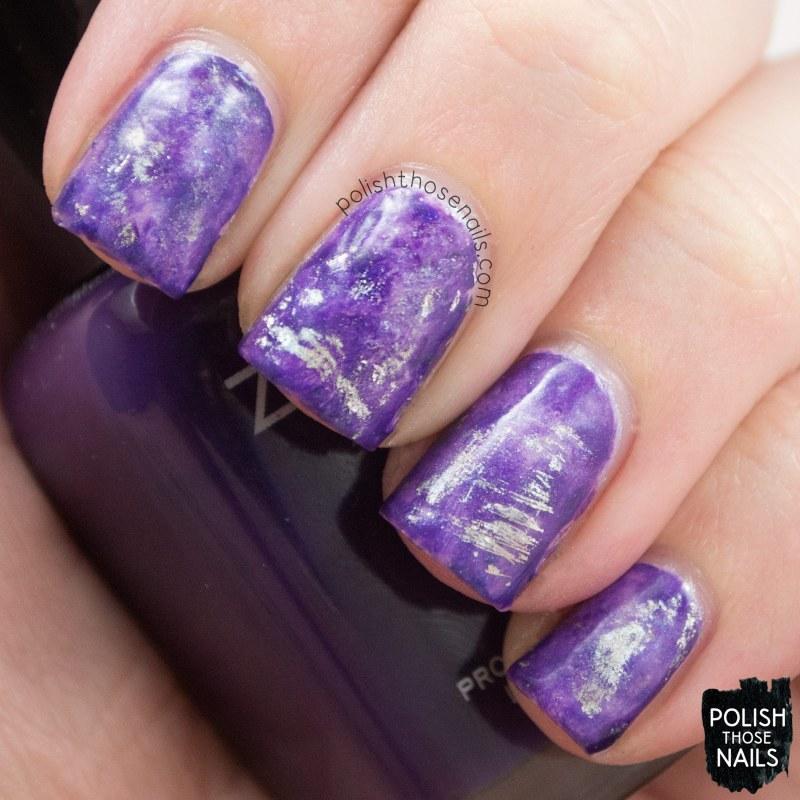 nails, nail art, nail polish, nail foil, purple, polish those nails