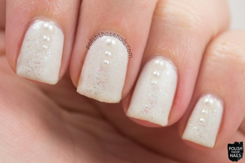 nails, nail art, nail polish, white, pearls, polish those nails