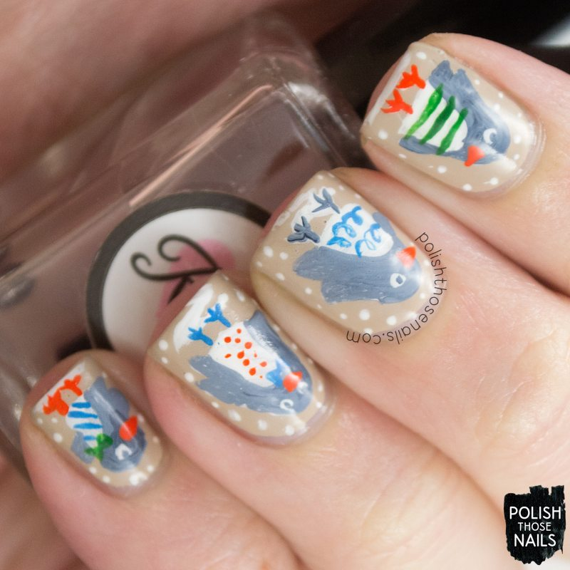 nails, nail art, nail polish, penguins, polish those nails