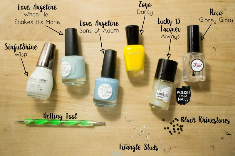 yellow-green-blue-smush-lady-queen-triangle-stud-nail-art-bottle-shot