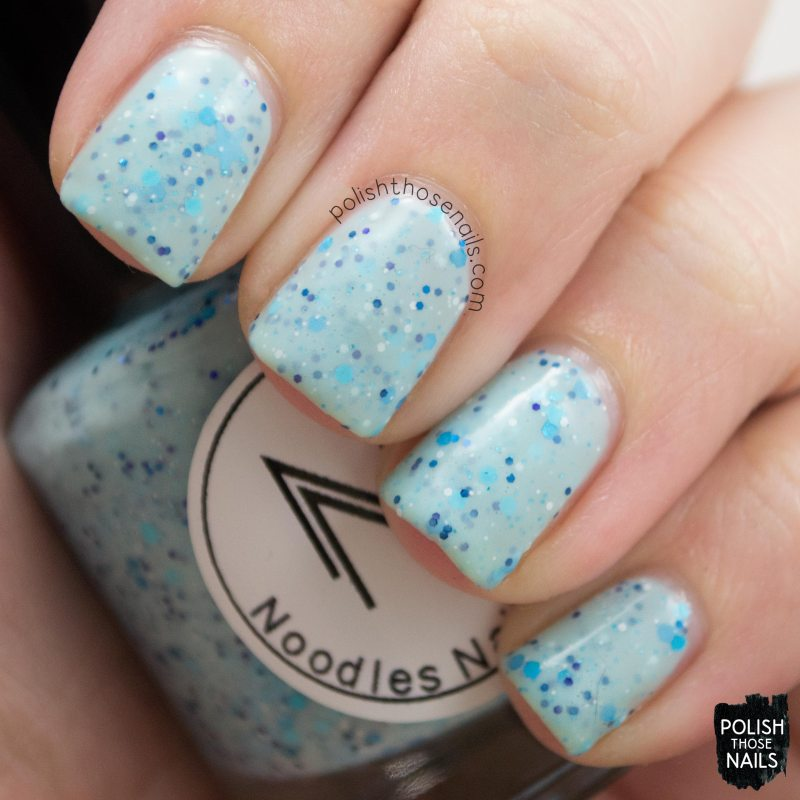 winter wishes, blue, nails, nail polish, polish those nails, indie polish, noodles nail polish,