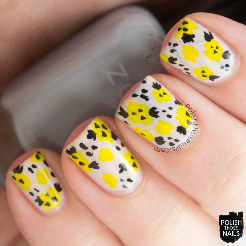 nails, nail art, nail polish, flowers, floral, watermarble, polish those nails