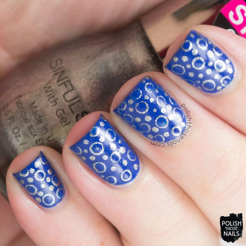 nails, nail art, nail polish, polka dots, polish those nails, blue,