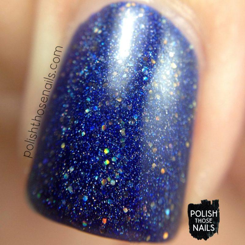 cosmic lovers, blue, holo, nails, nail polish, indie polish, model city polish, polish those nails, macro