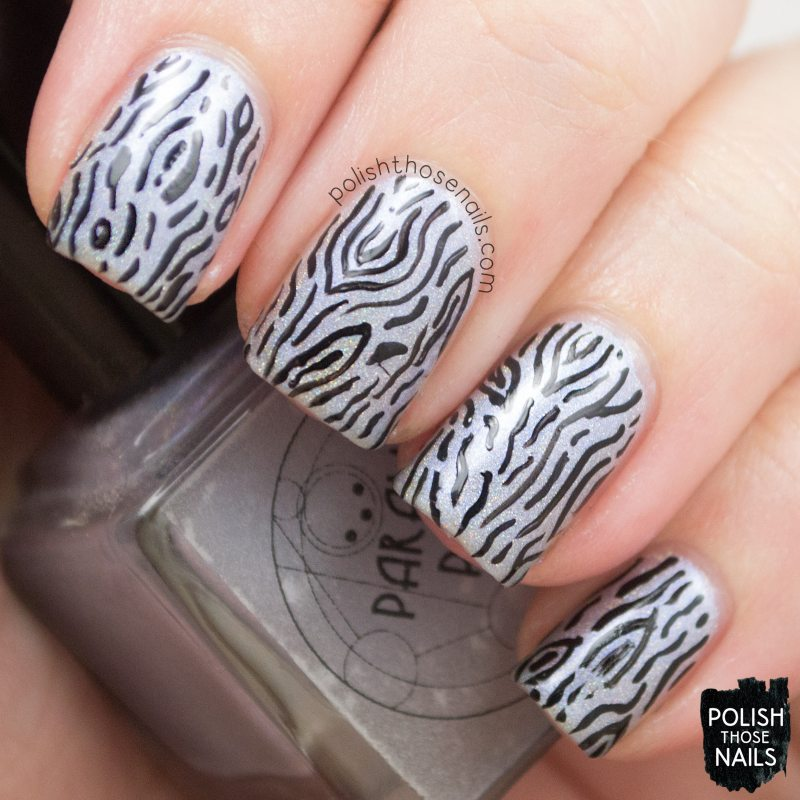 arctic ice, holo, pattern, nails, nail art, nail polish, indie polish, polish those nails, parallax polish