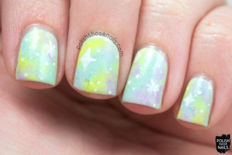 nails, nail art, nail polish, galaxy, pastel, polish those nails