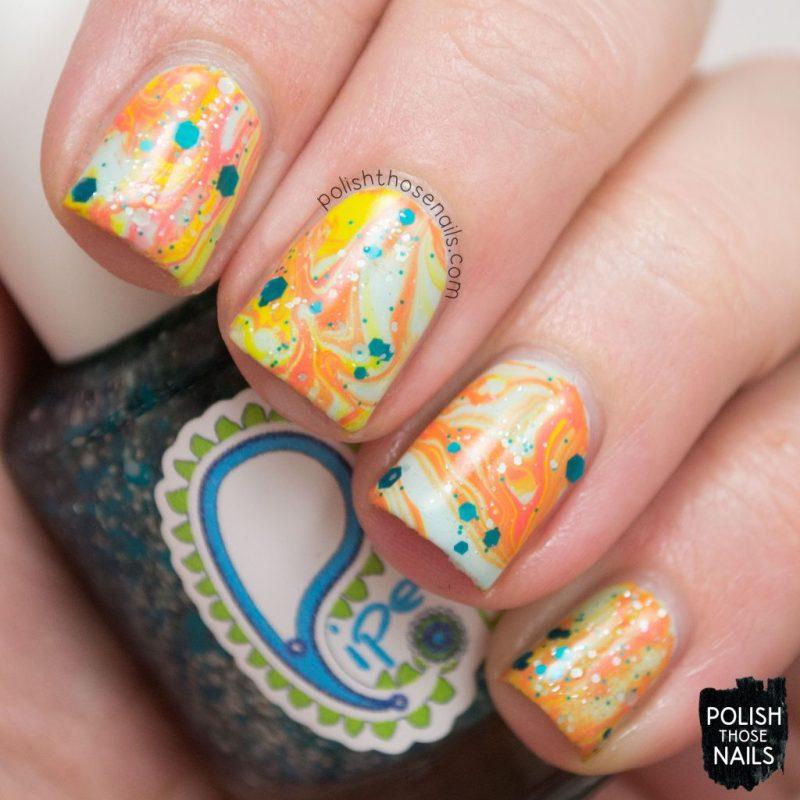 nails, nail art, nail polish, watermarble, glitter, polish those nails