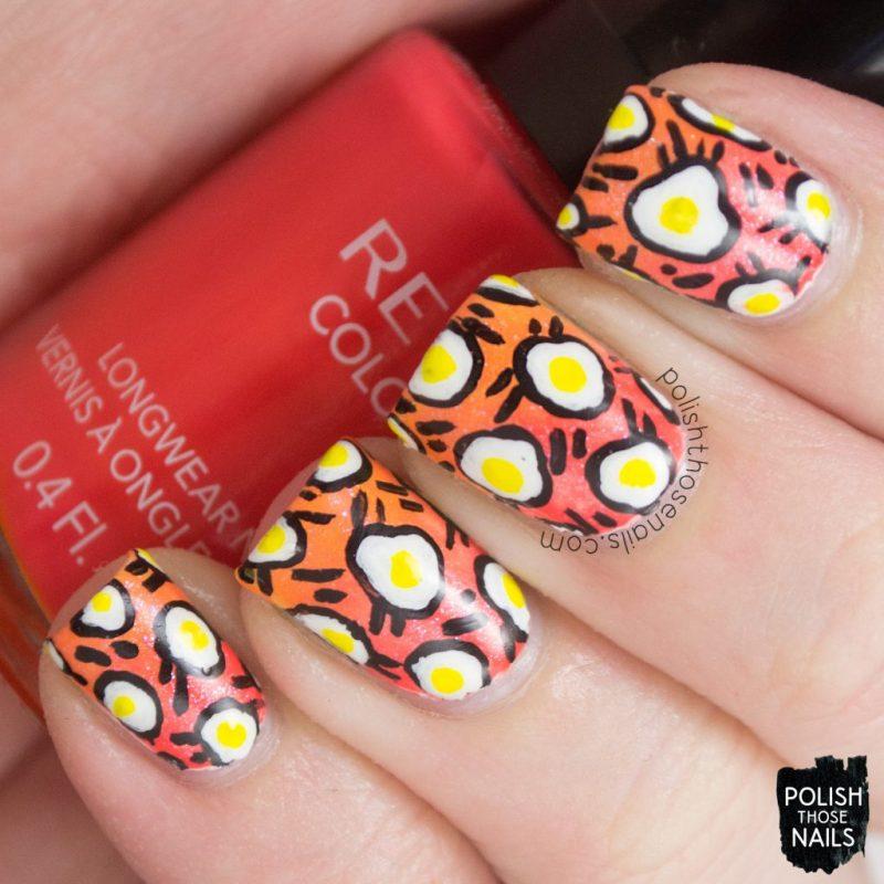 nails, nail art, nail polish, gradient, eggs, pattern, polish those nails