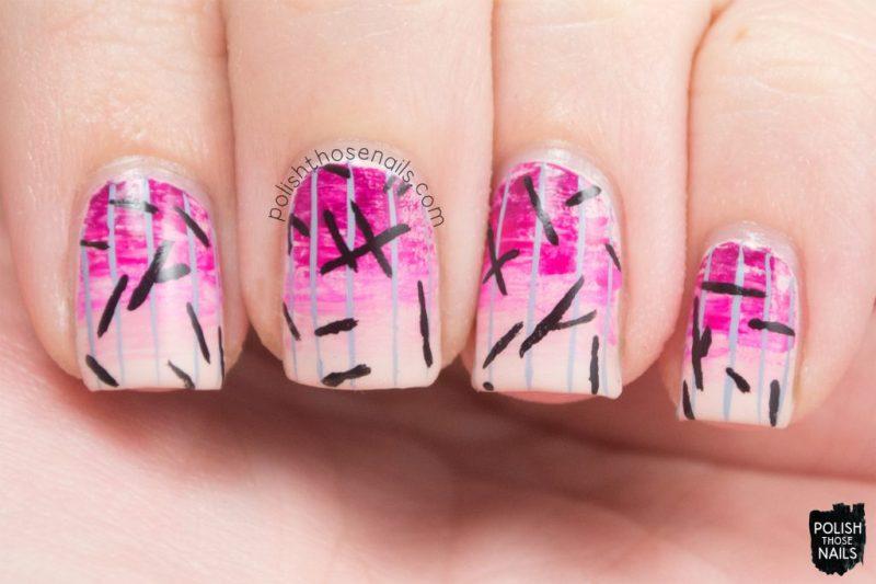 nails, nail art, nail polish, pink, gradient, stripes, polish those nails