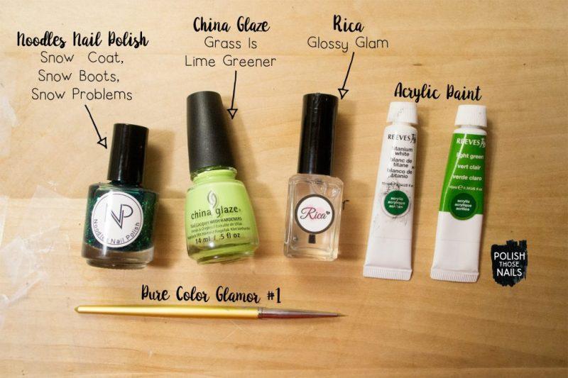 green-glitter-jelly-waterspotted-rough-monochrome-nail-art-bottle-shot