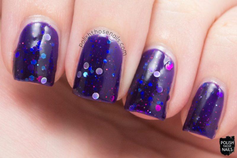 swatch, i'm an evil hordak, purple, midwest lacquer, polish those nails, indie polish, nails, nail polish