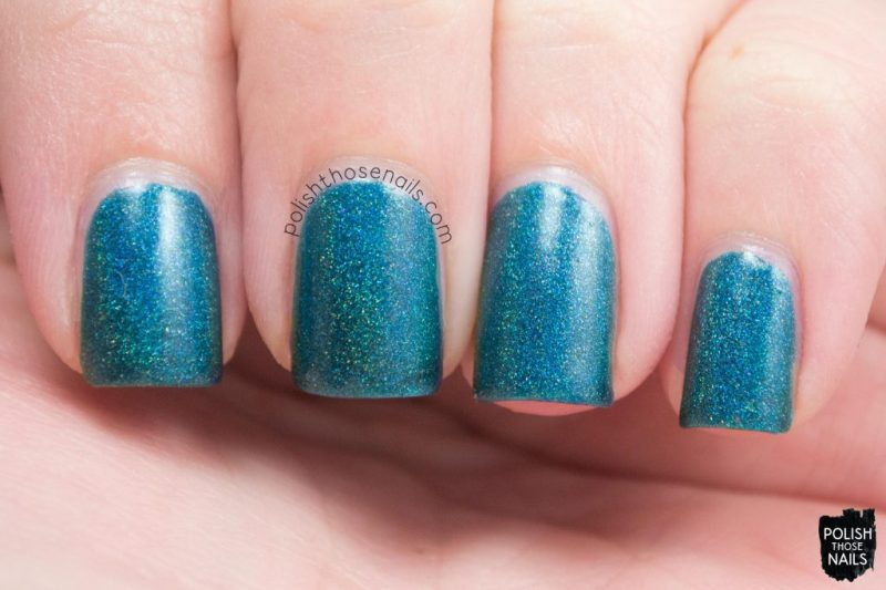 swatch, teal, not-so emerald city, holo, midwest lacquer, polish those nails, indie polish, nails, nail polish