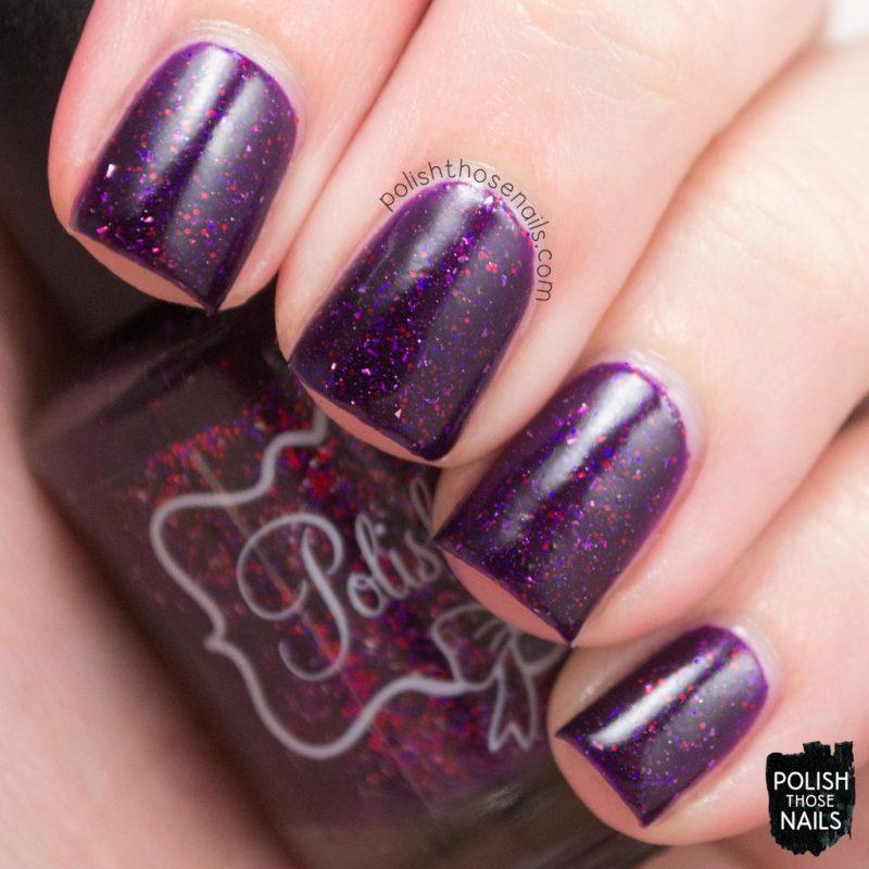 swatch, nail polish, nails, polish those nails, polish 'm, indie polish, cider by the bonfire, purple,