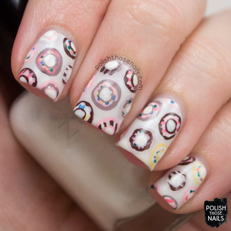 nails, nail art, nail polish, donuts, sweets, polish those nails