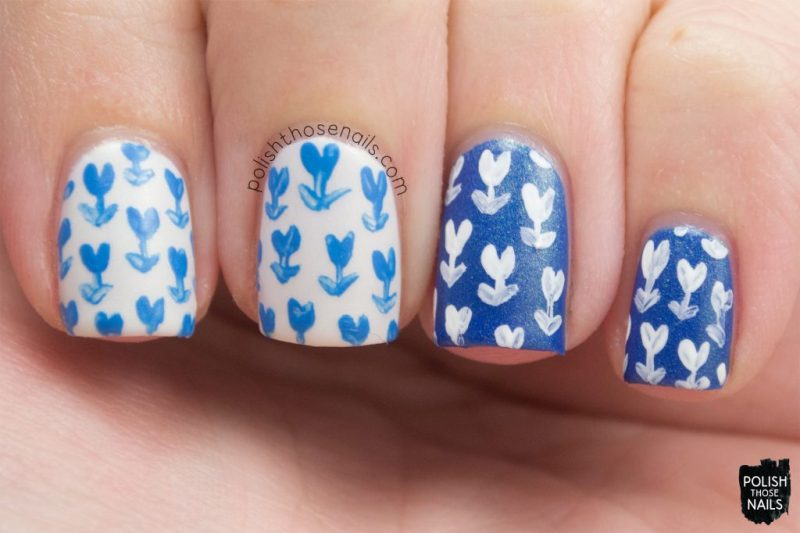 nails, nail art, nail polish, indie polish, tulips, polish those nails, floral, flowers