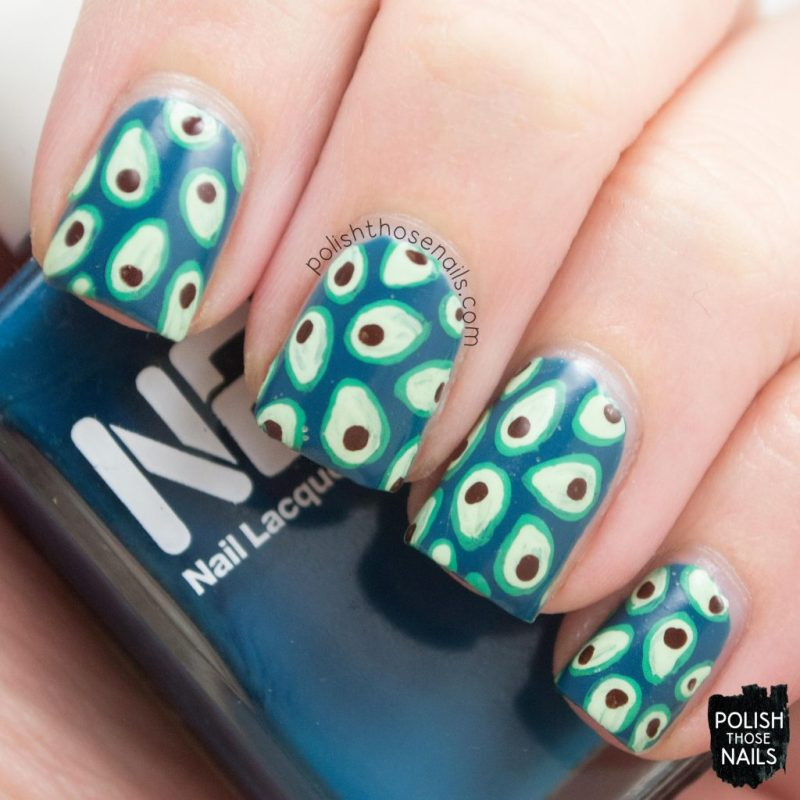 nails, nail art, nail polish, avocado, polish those nails, pattern