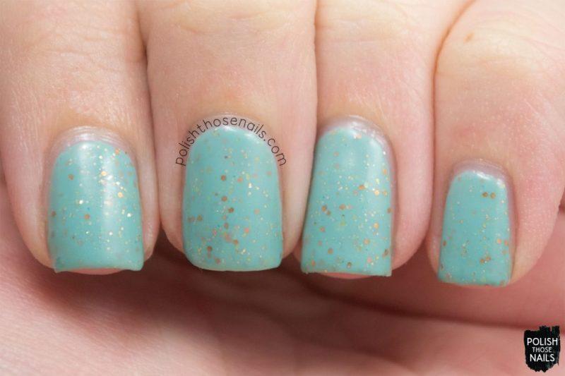 lady liberty, mint, glitter crelly, swatch, nails, nail polish, indie polish, polish those nails, polish 'm