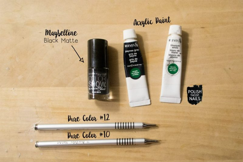 black-grey-striped-white-squiggles-fashion-nail-art-bottle-shot