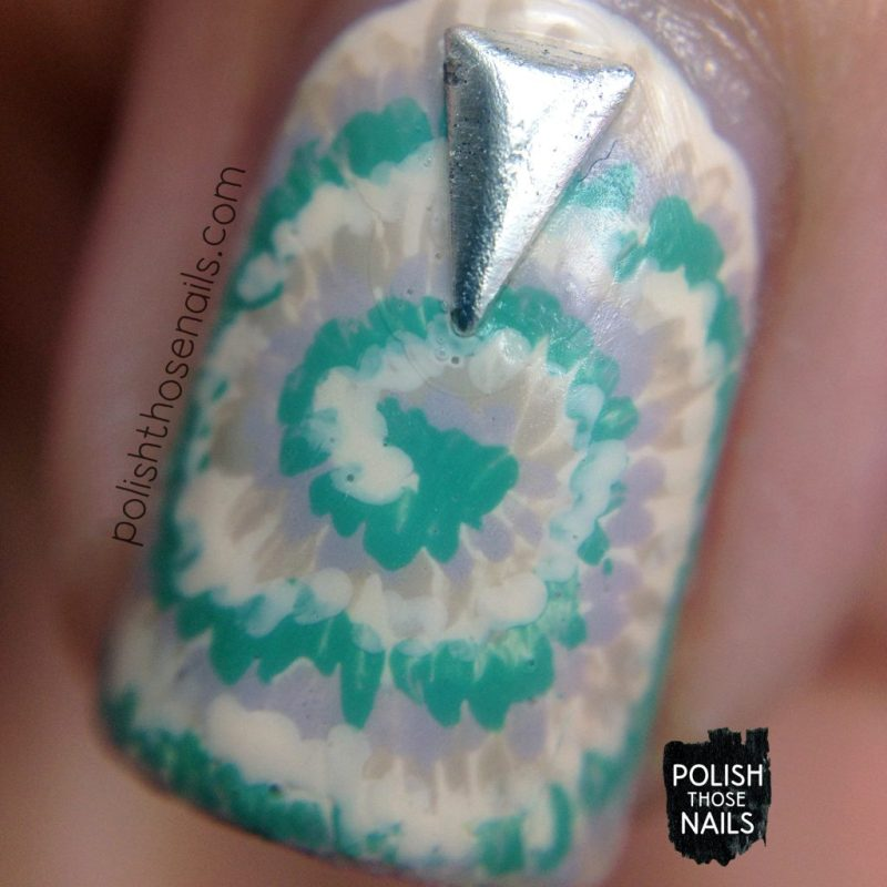 neutral, polish those nails, tie dye, nail art, studs, nail polish, macro