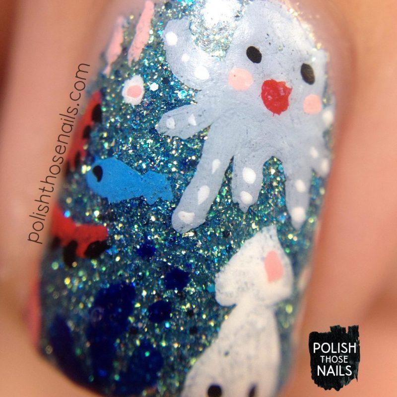 nails, nail art, nail polish, sea animals, polish those nails, zoya bay, macro