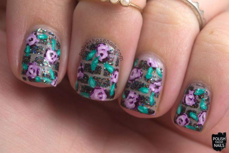 nails, nail art, nail polish, negative space, roses, polish those nails, indie polish