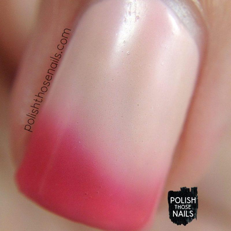 blushing nudie, pink, nails, nail polish, indie polish, swatch, damn nail polish, polish those nails, summer sunset series, thermal, macro