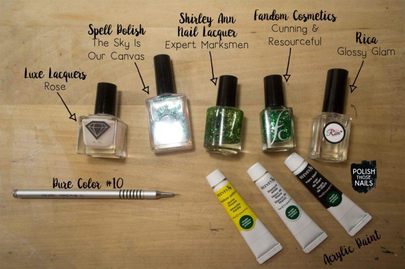 green-glitter-negative-space-floral-bee-nail-art-bottle-shot