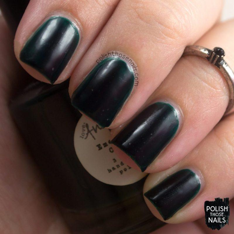 emerald city, swatch, green, nails, nail polish, indie polish, love angeline, polish those nails,