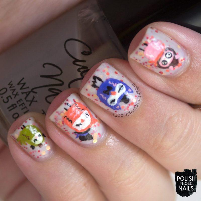 nails, nail art, nail polish, owls, polish those nails, glitter