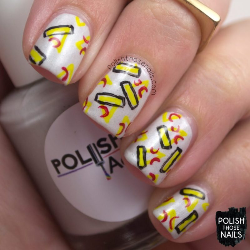 nails, nail art, nail polish, pizza, indie polish, polish those nails,