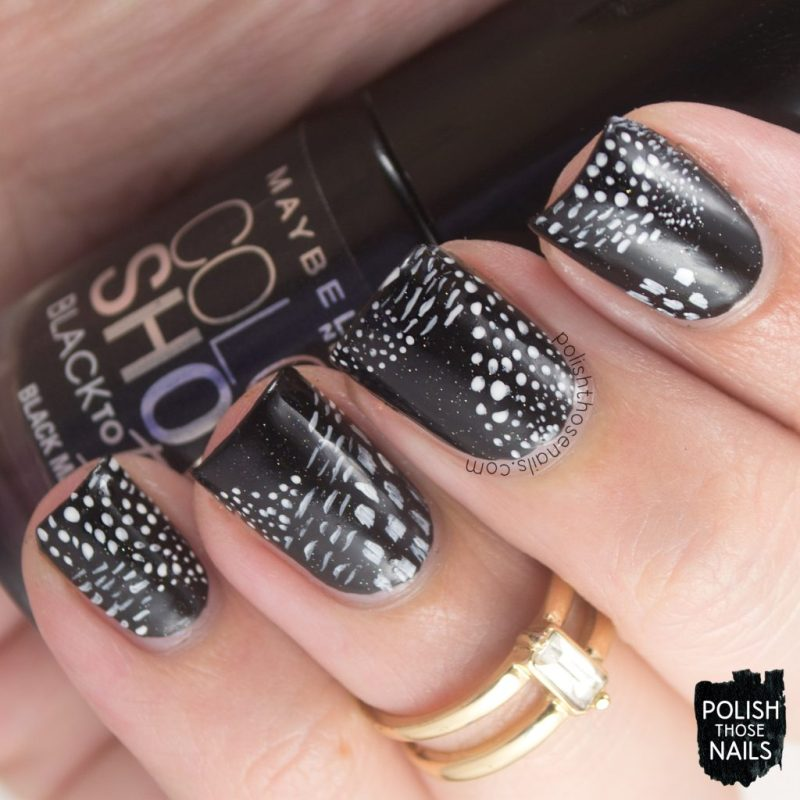 nails, nail art, nail polish, indie polish, black, white, polish those nails