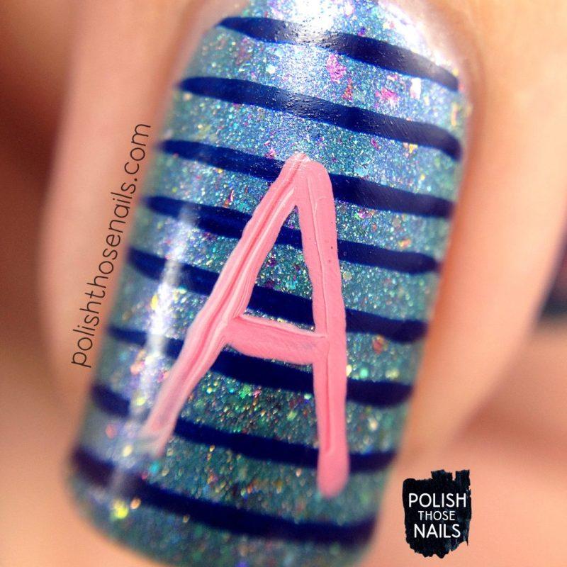 nails, nail art, nail polish, typography, blue, indie polish, polish those nails, macro