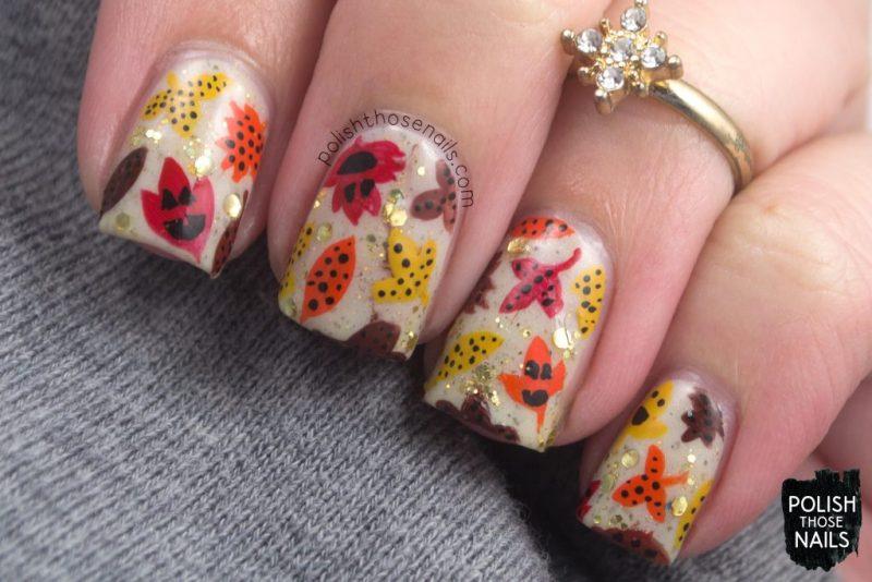 nails, nail art, nail polish, indie polish, neutral, autumn, leaves, polish those nails,