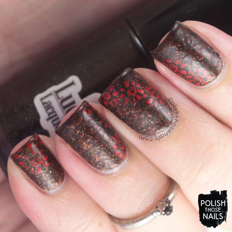 Day Four - Vampy Floral Glitz • Polish Those Nails