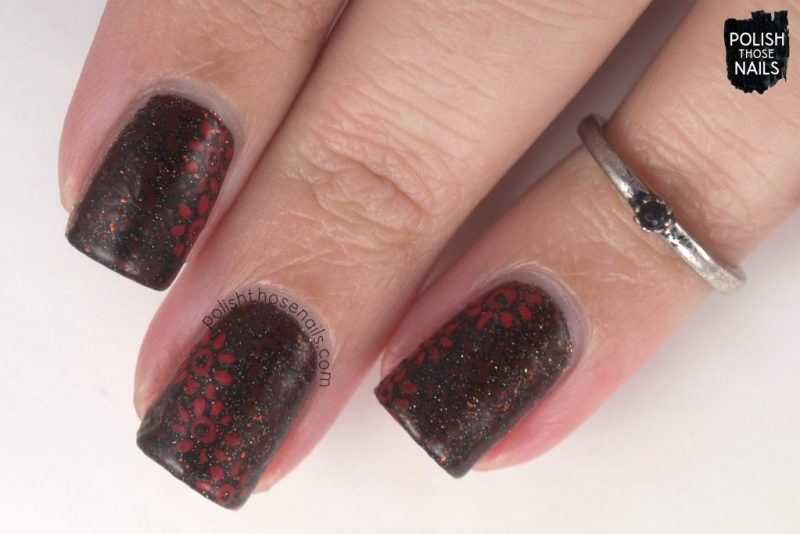 nails, nail art, nail polish, vampy, floral, polish those nails, indie polish