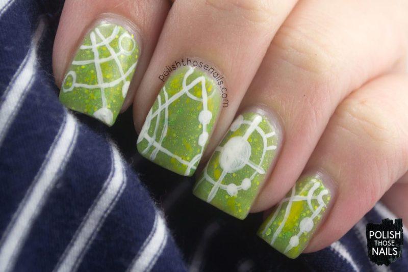 honor, nails, nail art, nail polish, crop circles, polish those nails, indie polish