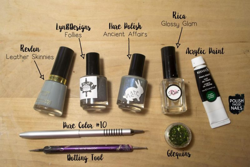 grey-shimmer-witch-hat-pattern-halloween-nail-art-bottle-shot