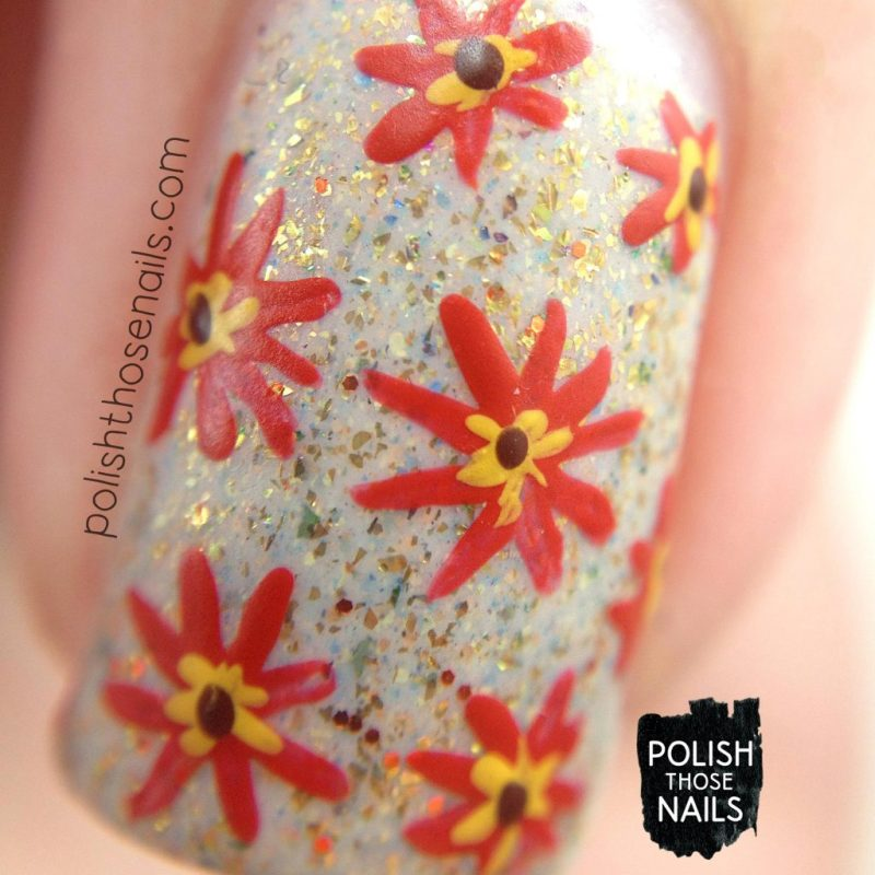 nails, nail polish, nail art, floral, autumn, polish those nails, floral, macro