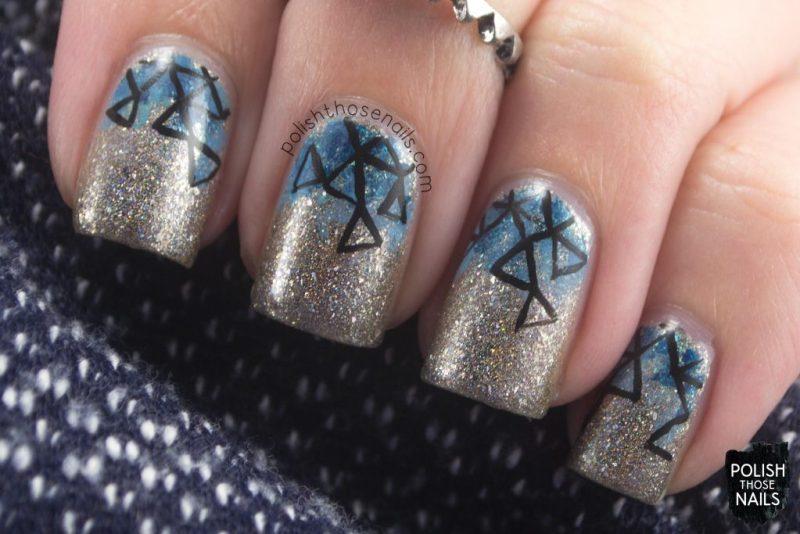 nails, nail art, nail polish, indie polish, silver, geometric, polish those nails,