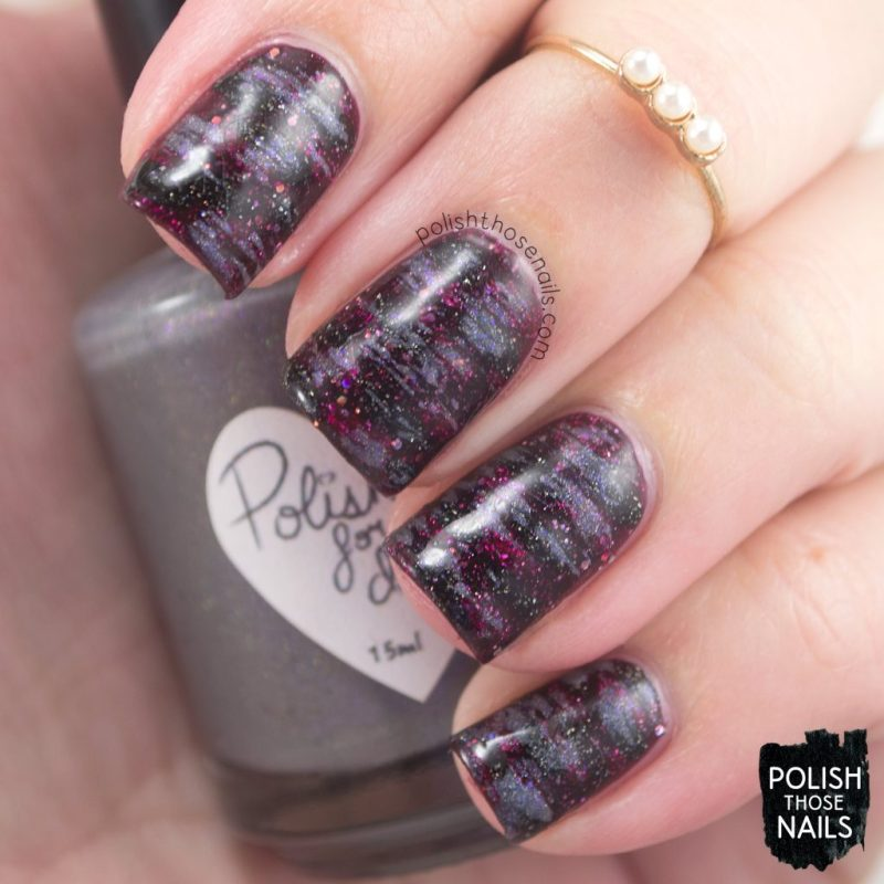Day Three - Vampy Distressed Holos • Polish Those Nails
