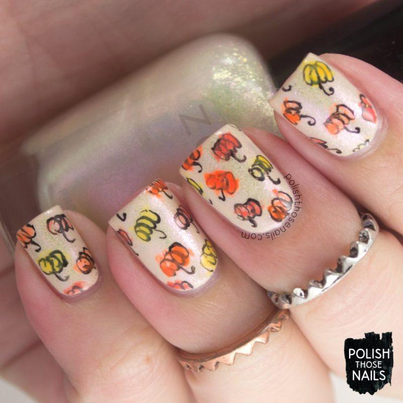 nails, nail art, nail polish, pumpkin, halloween, polish those nails