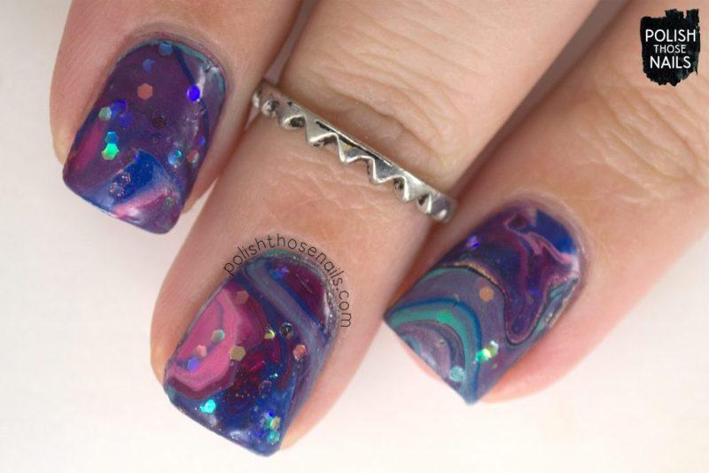 nails, nail art, nail polish, drip marble, polish those nails, glitter